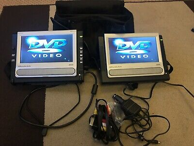 Wharfedale Portable DVD Player Dual Widescreen Mains And Car Adaptors.