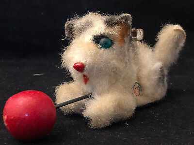 Chat Mécanique Automate WEST GERMANY Antique Toy Cat