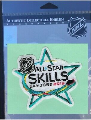2019 Nhl All Star Game Skills Patch San Jose Sharks Jersey Style Tough To Find!