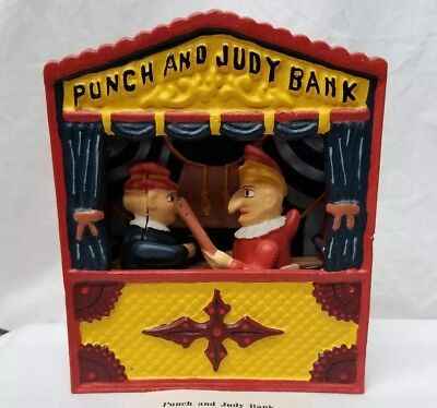 Punch And Judy Bank..cast Iron