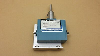 Merrimac AUP-25ASX SN-132 Microwave Coaxial Attenuator 50 Ohm SMA 0-30dB 1-10GHz