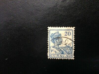 old stamp Curacao 20 c blue