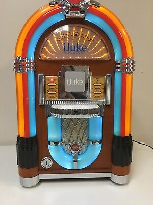 CROSLEY CR17 IJUKE Mini Jukebox- Great Condition-LED Lighting-Collector's  Item