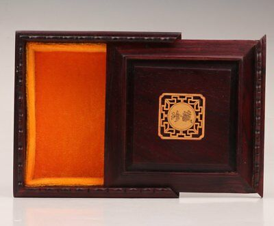 Gift Rosewood Carving Precious Collectibles Expensive Jewelry Box