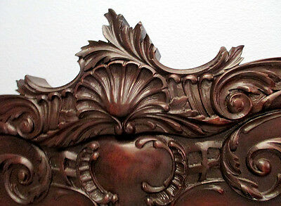 Antique SLEIGH Bed CHIPPENDALE SHELL ROCOCO FRENCH ANTIQUE Victorian Mahogany