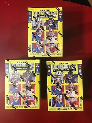 2018 Panini Contenders Football X3 Blaster Boxes, Factory Sealed