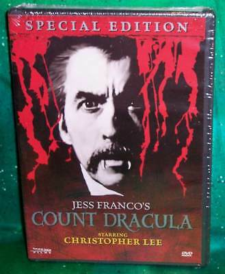 New Rare Oop Jess Franco Christopher Lee Count Dracula Special Edition Dvd 1970