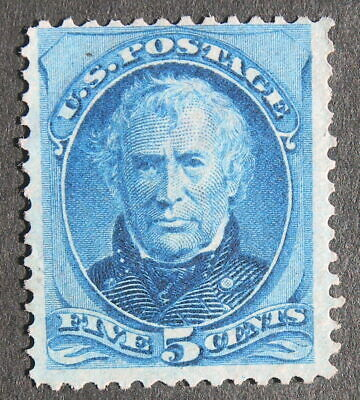 "US MINT 1875 Bank Note - 179 5c blue Taylor  ""Margins""   Very Fresh 5c MNG"