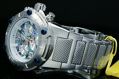 Invicta Speedway 50MM XL VIPER SWISS Ronda Z60 Movt ABALONE Dial SS Silver Watch