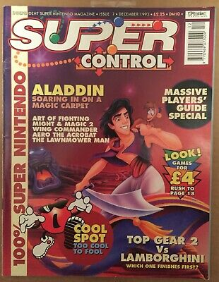 Super Control issue 7 vintage SNES Nintendo magazine 1993 Maverick retro games