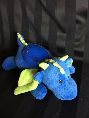 Nightlight Cloud b Blue Plush Dragon, Star Shaped Lights