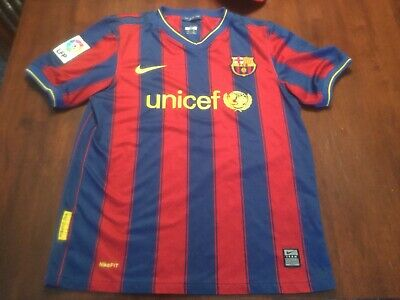 838a767616f FC Barcelona Football Club Authentic Nike Soccer Jersey Boys Large Kids  Youth