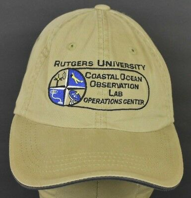 huge discount 444d8 a33c0 Beige Rutgers University Coastal Ocean Embroidered Baseball hat cap  adjustable