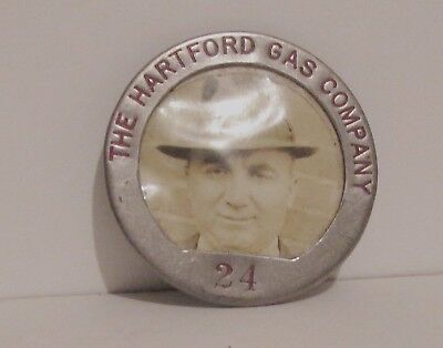 1940's The Hartford Gas Company  employee badge  Home Front