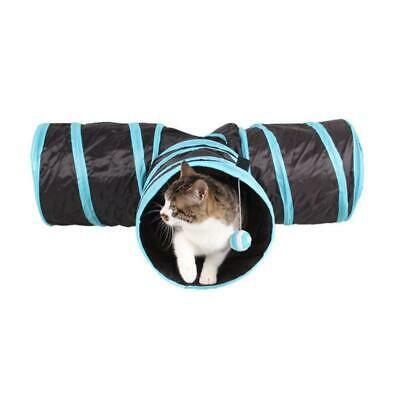 3 WAY Y Shape Foldable Pet Puppy Animal Cat Kitten Play Toy Exercise Tunnel Cave