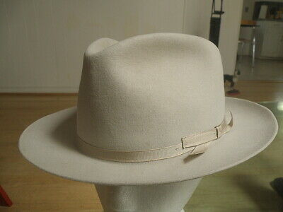 RARE minty vintage 60 s STETSON Open ROAD silver belly FEDORA Western HAT! 7  1  a92d9c1644d0