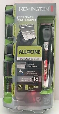 Remington All In One Multigroomer 4000 16 Length Style Settings NEW Grooming Kit