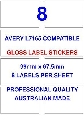 Avery L7165 Compatible Gloss Address Label Stickers 8 X 100 Sheets