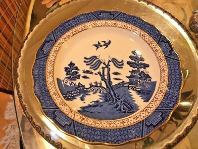 Royal Doulton Booths Real Old Willow The Majestic Collection 5 plates set