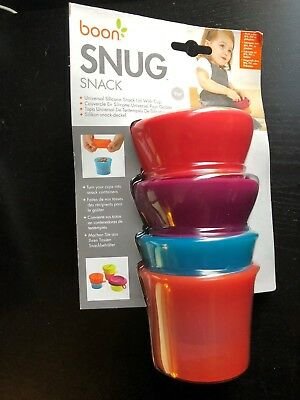 Boon SNUG Snack Cup - Pink 2 Stackable containers & Lids