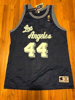 Vintage NWT Jerry West Los Angeles Lakers Jersey champion jersey size 48 New 4f5a89fc6