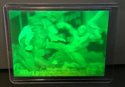 Spider-Man vs Venom 1993 Skybox Marvel Universe Series 4 Green Hologram Card *1