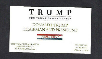 Donald Trump Business Card Trump Organization 499 Picclick