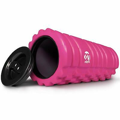 321 STRONG Foam Roller for Muscle Massage with End Caps - Store Keys, Towels,