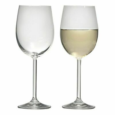 NEW Ecology White Wine Glasses 350ml Set of 6 Long Stem FREE Postage