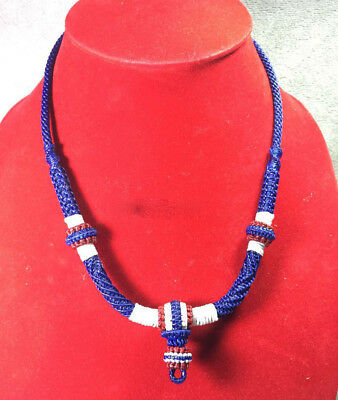 """24"""" Necklace Rope Wax Handmade Thai Style for Amulet Pendant Hang 1 Hook NK8"""