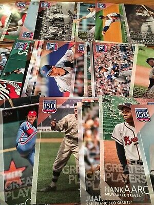 2019 Topps Series 1 150 Years of Baseball Inserts, Pick Your Own: Ruth, Aaron, R