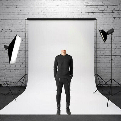 Solid Photo Props Wall Pure White Backdrop 5x7FT Photography Cloth Background US