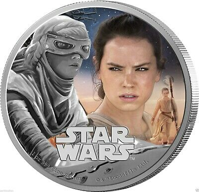 2016 $2 Niue Star Wars: - Rey - 1 oz Silver Proof Coin NZ Mint