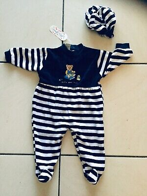 Bnwt Jelly beans Striped Velour Outfit Size 0