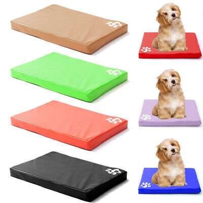Dogs Cage Crate Mat Waterproof Mattress Pet Dog Cat Bed Pad PU Leather Washable