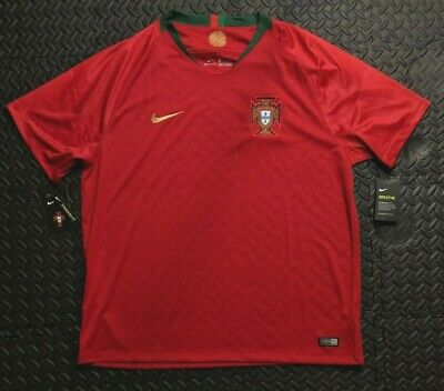 7ae66dc40 Nike Mens 2018 Portugal WC Home Stadium Jersey Size XXL Gym Red 893877 687