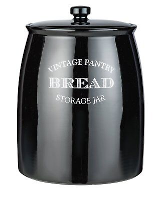 Argos Home Eve Traditional Ceramic Bread Bin - Black