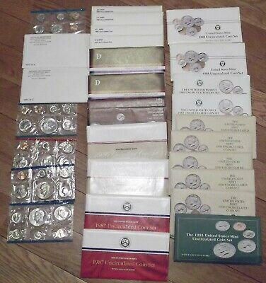 Lot of 28 US Mint Uncirculated Sets in Range 1971 - 1993 See listing for Details