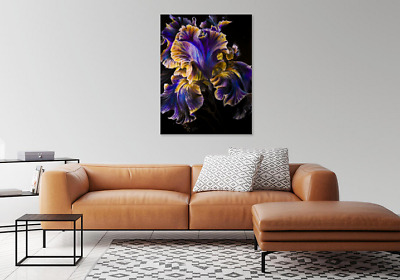 Beautiful Unique Abstract Flower Blue Print Home Decor Wall Art choose your size