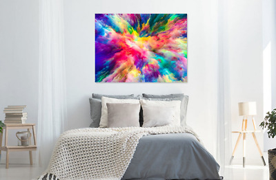 Beautiful Abstract Clouds Colorful Print Home Decor Wall Art choose your size
