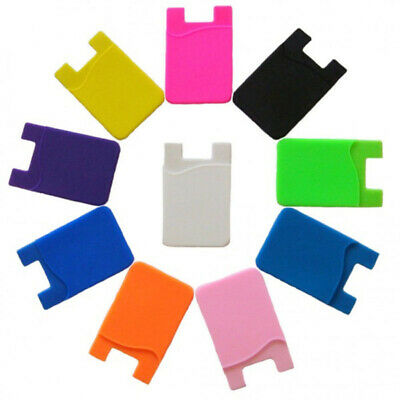 Silicone Mobile Phone Wallet Card Stick On Cash Silicon Credit Opal Card Holder