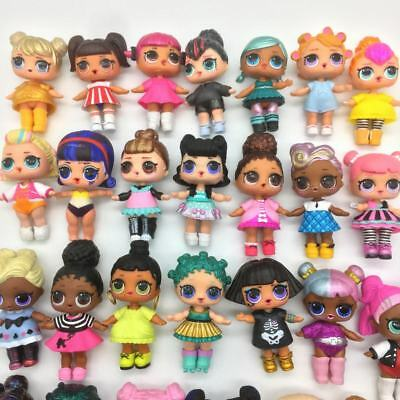 Lot 5Pcs LOL Surprise Dolls Kitty Queen Rocker IT Baby w/ outfit shoes toy