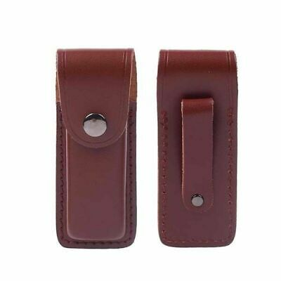 """5"""" Real Leather Sheath Pocket / Folding Knife Multi Tool Case Pouch Holster"""