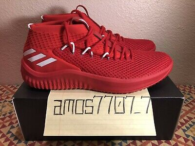 sports shoes 56a5d b3be3 Adidas Dame D Lillard 4 Red White Team Issued Basketball Shoes B76013 Size  14