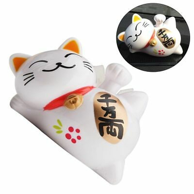 Adorable Waving Cat Solar Powered Chinese Japanese Feng Shui Good Fortune Gift