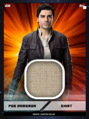 Topps Star Wars Card Trader Marathon 2019 Digital Swatch Poe Dameron Red
