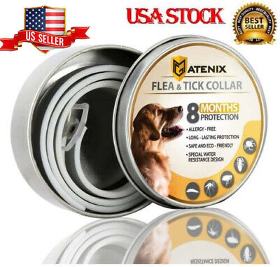 Dewel ATENIX Adjustable Flea and Tick Collar for Small Medium Large Dog 8 Month