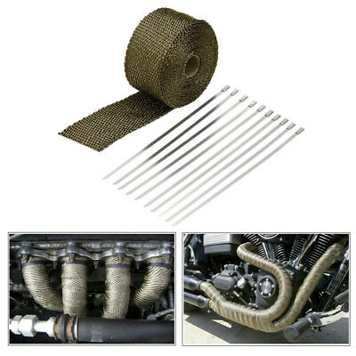5m Heat Exhaust Pipe Heat Shield Thermal Turbo Wrap Tape Kit for Car Truck