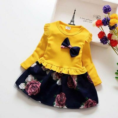 2d0d43787671ed Abito bambina battesimo 1-5 anni manica lunga Natale girl winter dress party