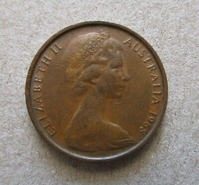 Australian 1968   2 Cent Coin......low Mintage. Coins